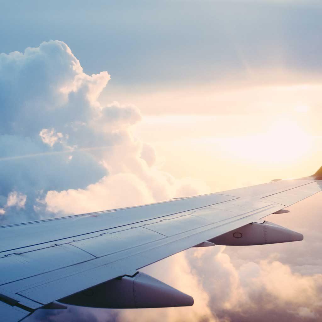 De temperatuur buiten een vliegtuig…